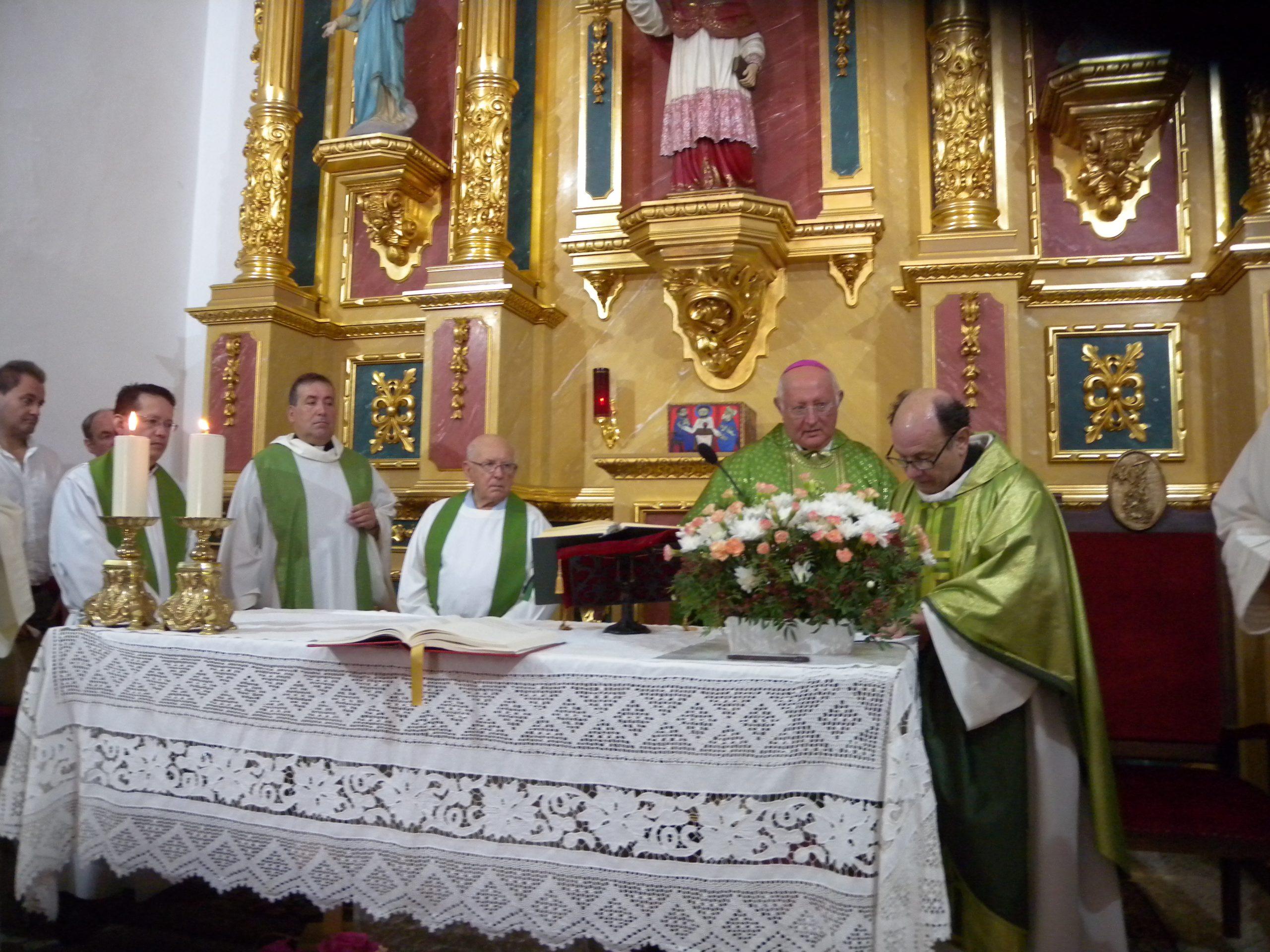 TOMA DE POSESIÓN DE D. ANTONIO FERRER COMO PÁRROCO DE SAN CARLOS DE PERALTA
